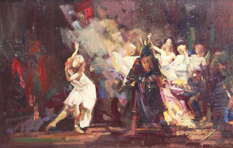 В. Братанюк. Последний танец Маргариты, солистка Ирина Перрен, 65*101, 2008