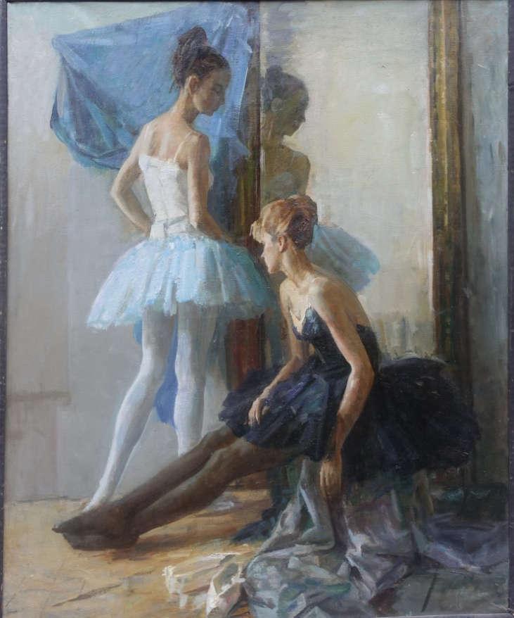 В. Братанюк. Балетная постановка в мастерской Непринцева, 1995 год