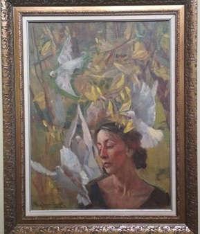В. Братанюк. Портрет балерины Г.С. Улановой, 1993