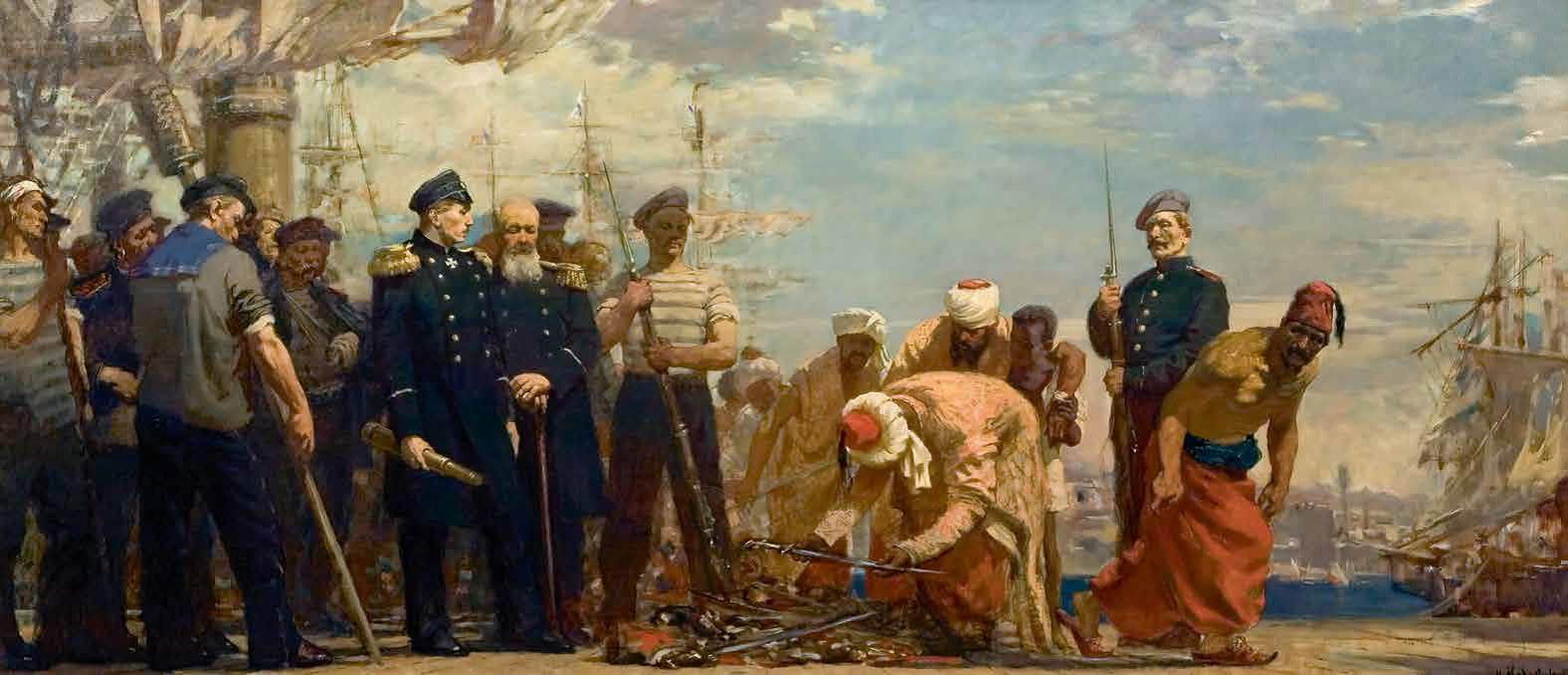 «Адмирал Нахимов при Синопе», 1950 г., Никита Медовиков.