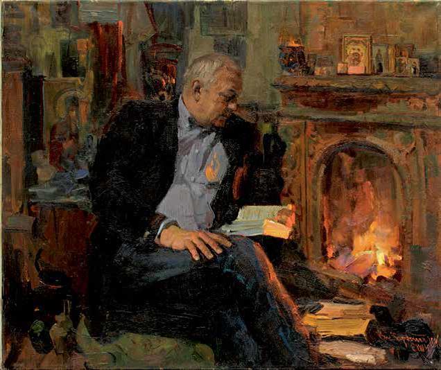 «За чтением», портрет Валерия Федоровича Пустарнакова, 2014 г., Василий Братанюк.