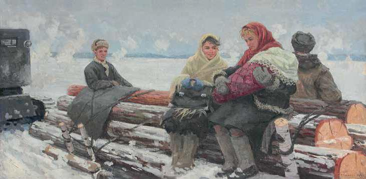 «Подруги», 1956 г., Петр Малышев.