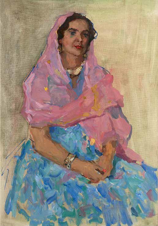 «Портрет Марал ханум», 1970 г. Сафарова Халида.