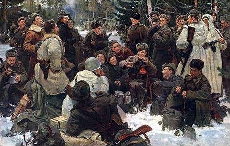 Ю. Непринцев. После боя, 1951