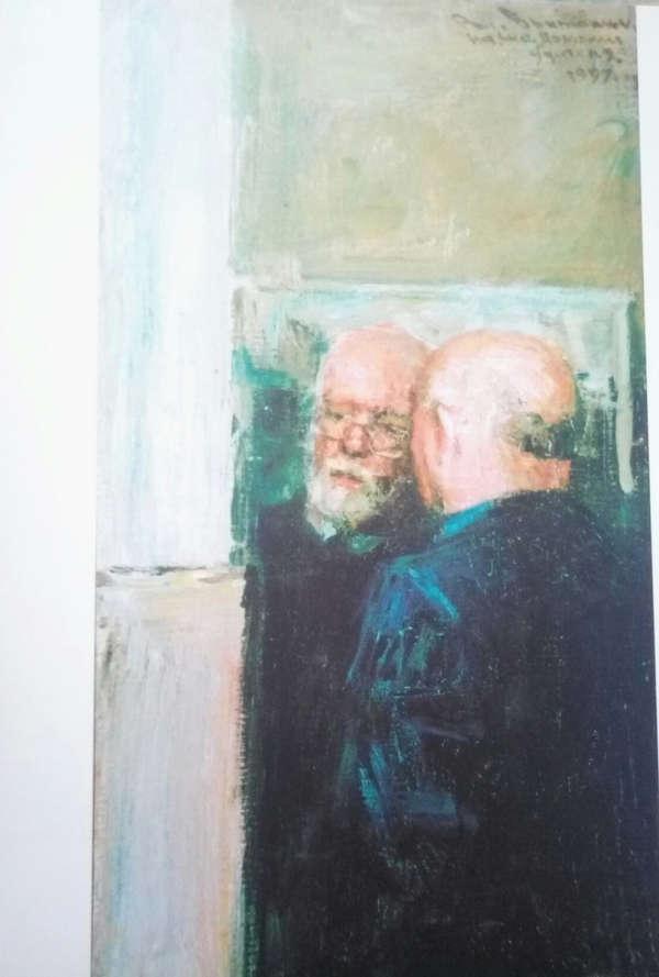 В. Братанюк. Профессор А.А. Мыльников и профессор В.А.Ветрогонский, 1997