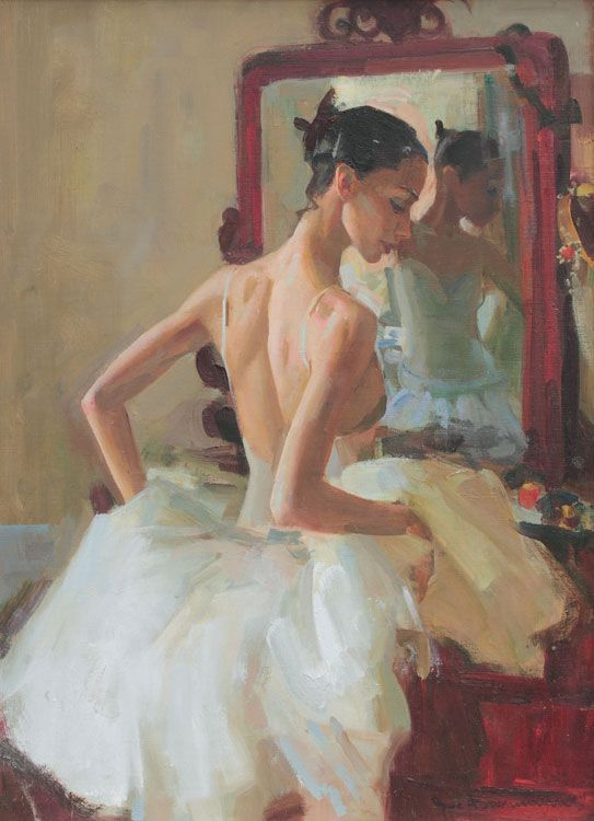 «Балерина у зеркала. Солистка балета Наталья Поворознюк», 2011г. Василий Братанюк
