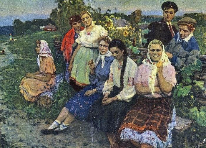 «Вечером», 1956 г. Леонид Фокин.